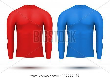 Under layer compression shirt with long sleeve of thermo fabric.