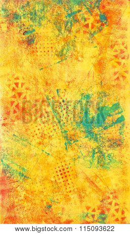 Yellow and Blue Abstract Texture