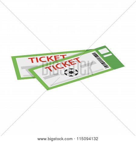 A pair of tickets for football isometric 3d icon