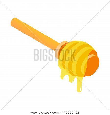 Honey dipper isometric 3d icon