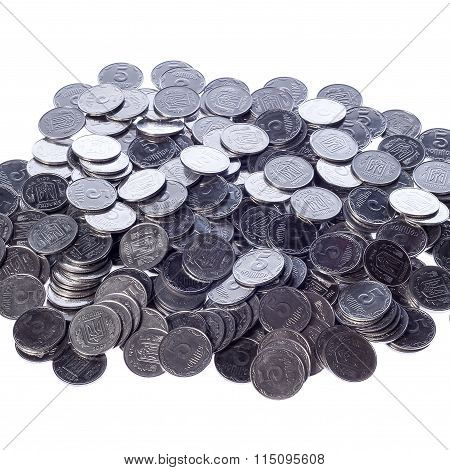Many Of Shiny Coins Metal