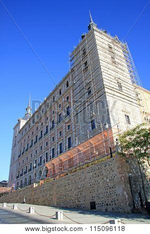Toledo, Spain - August 24, 2012: View On Alcazar De Toledo, Toledo, Spain