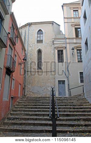Girona, Spain - August 30, 2012: Jewish Quarter In Girona. Catalonia. Spain