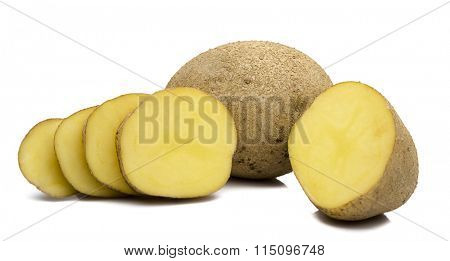 Sliced and Unpeeled Potatoes