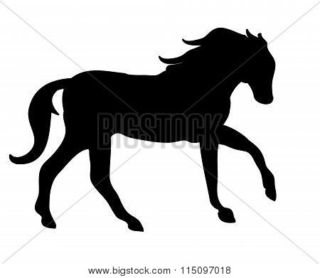 The Silhouette Of A Horse Gallop (black)