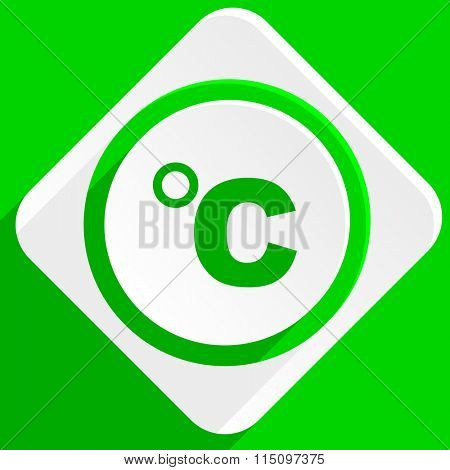 celsius green flat icon