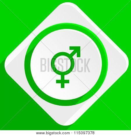 sex green flat icon