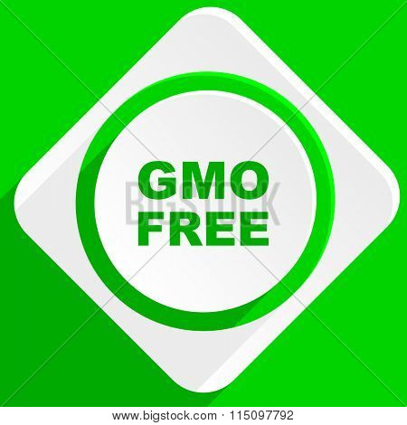 gmo free green flat icon