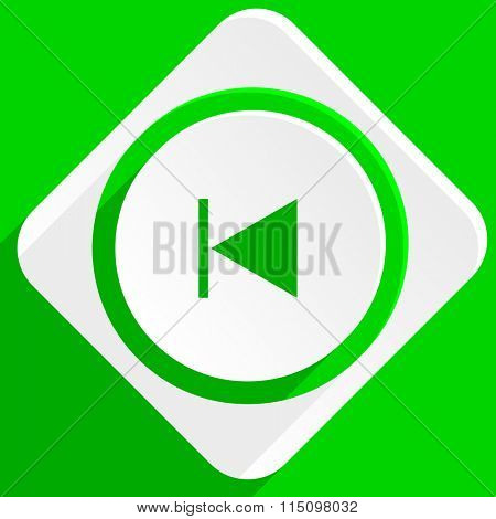 prev green flat icon