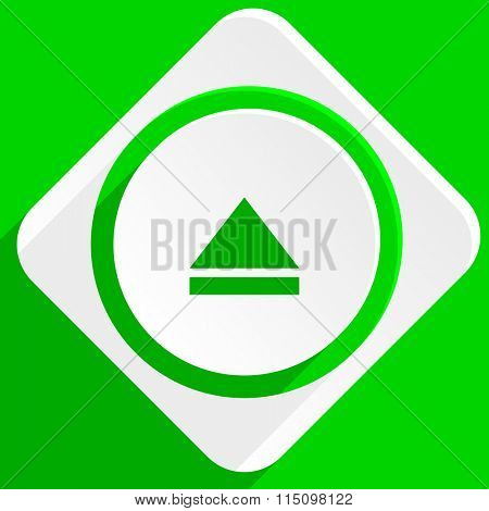 eject green flat icon