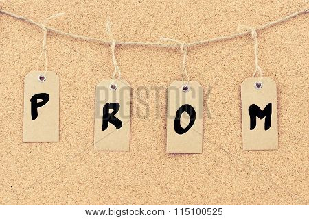 Vintage Grunge Tags With Word Prom