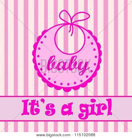 Baby bib for girl