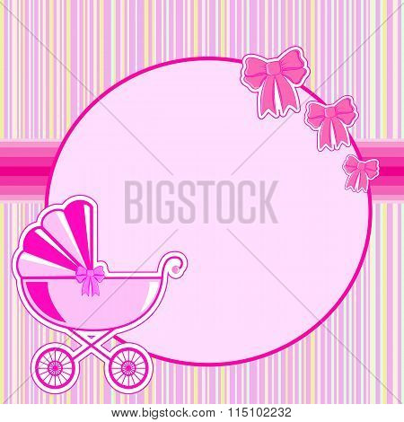 Children Frame For A Girl At Birth