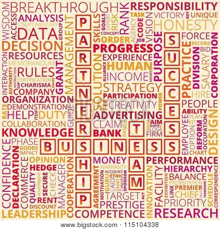 Colorful Business And Finance Words On Light Background