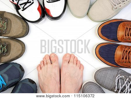 Shoes Circle On White