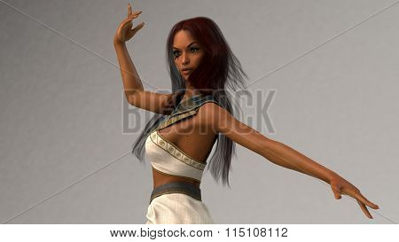 egypt style dancer girl