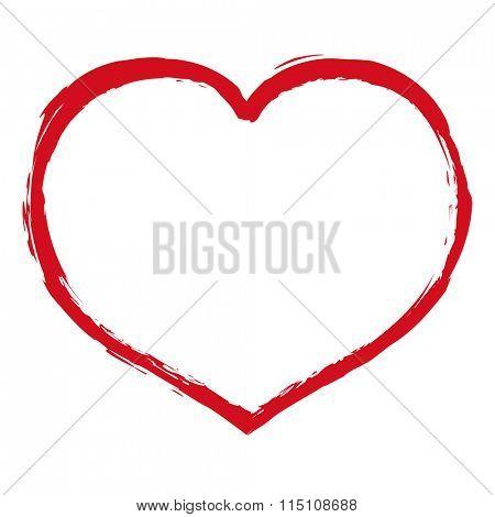 Heart Blot, Vector Illustration