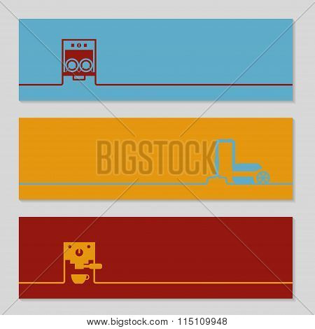 Abstract Creative Concept Vector Background Brochure Or  Banner With Domestic Equipment.
