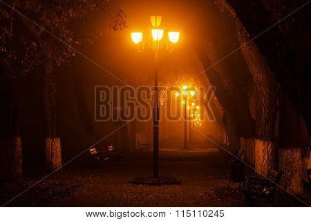 Lamp Lights At Night