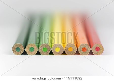 Conceptual Crayons As Energy Label Colors.