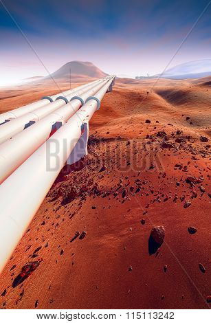 Building Water Pipeline On Mars