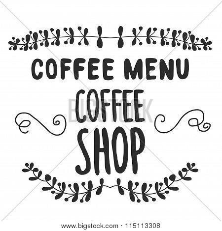 Vector image of coffee menu or shop