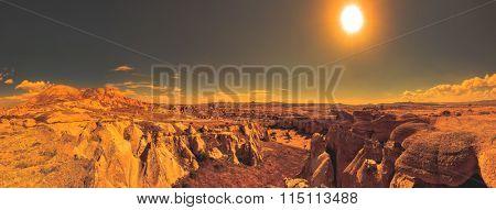 Rock formations of Cappadocia in Central Anatolia, Turkey
