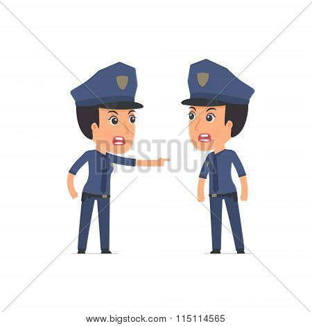 Angry Character Constabulary Abuses And Accuses His Companion