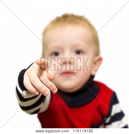 The Kid Who Extended A Hand And Pointing A Finger At The Viewer