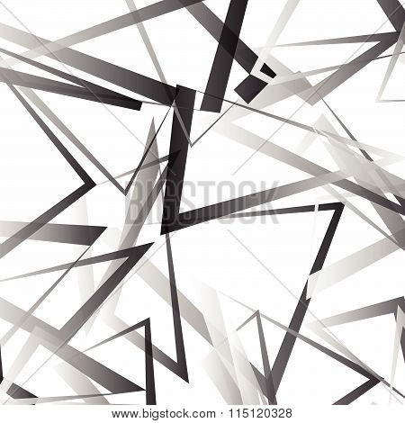 Abstract Vector With Scattered, Angular Edgy Shapes.