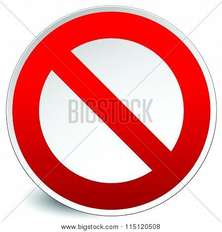 Prohibition, Restriction Sign Vector For Limit, Stop, Disallowed Themes. No Entry Sign.