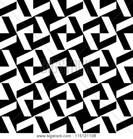 Abstract Repeatable Geometric Pattern, Monochrome Background. Vector Art.