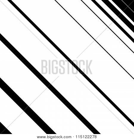 Diagonal, Slanted Lines Simple Monochrome Pattern. Vector Illustration.
