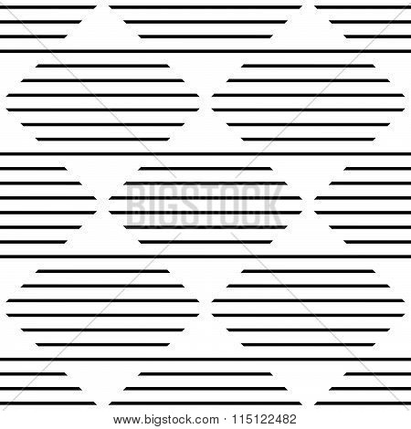 Repeatable Monochrome Pattern W/ Horizontal, Straight Lines Mapped In Squares.