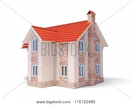 Cottage isolated on white