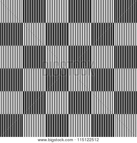 Checkered Background With Liny Pattern. Vector Illustration.