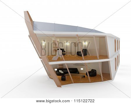 Modern house ship