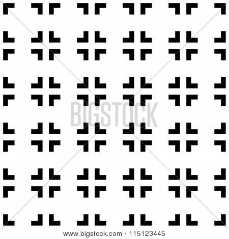 Abstract Pattern With Cross Hair Like, Square Shapes. Seamlessly Repeatable.
