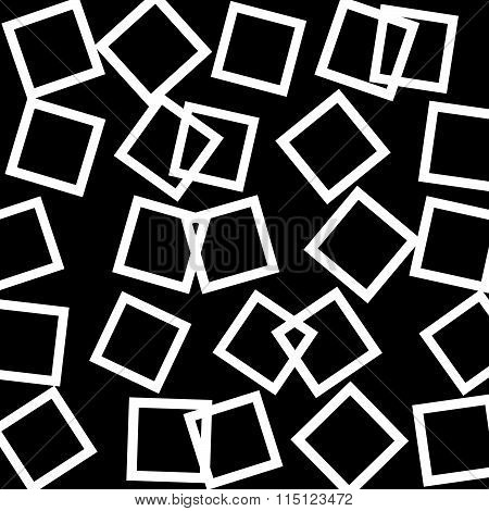 Abstract Pattern, Texture With Scattered, Random Squares. Vector.