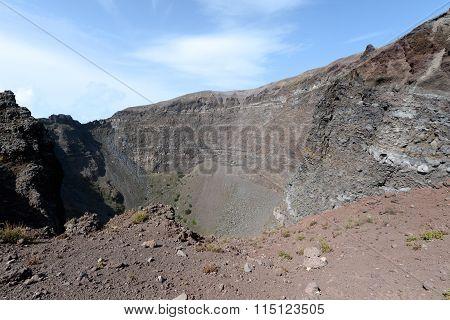 Inside The Mount Vesuvius Volcano Crater