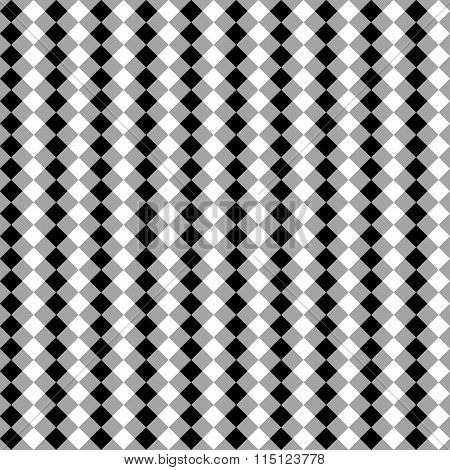 Seamless Monochrome Pattern, Background With Square Shapes.