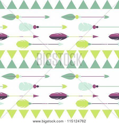 Tribal arrow seamless pattern.