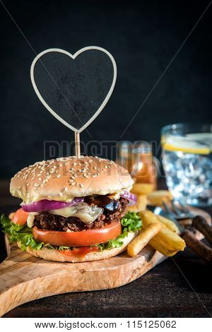 Served Beef Burger