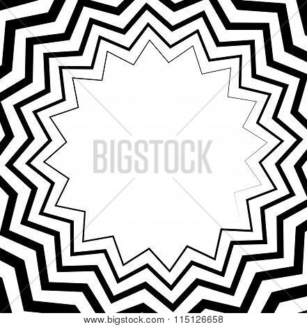 Abstract Spiral, Helix Or Volute With Wavy - Zigzag Effect.