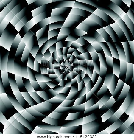 Background / Pattern With Twirling Distortion Effect. Vortex, Spiral Backdrop, Texture. Vector