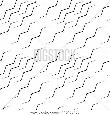 Wavy Lines Seamless Pattern. Abstract Monochrome Vector Background, Repeatable