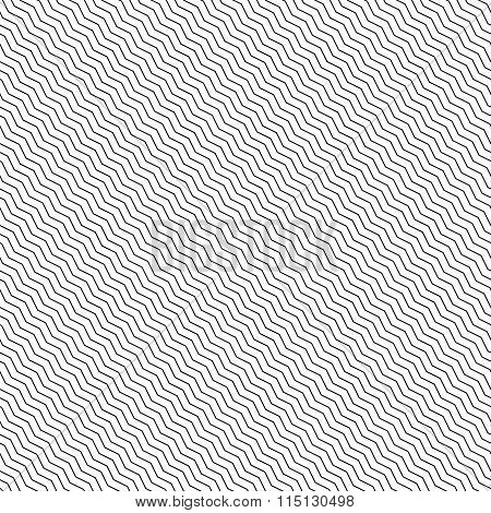 Abstract Geometric Pattern With Diagonal Zigzag Lines. Can Be Repeated.
