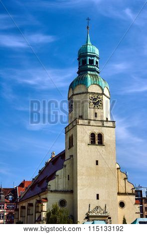 Neo-Renaissance clock tower of the church