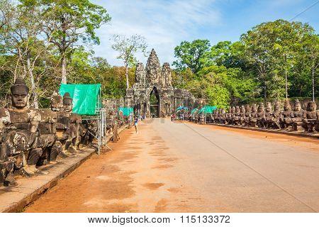 Angkor Wat,cambodia,december 15,2013:angkor Wat Temple In Cambodia