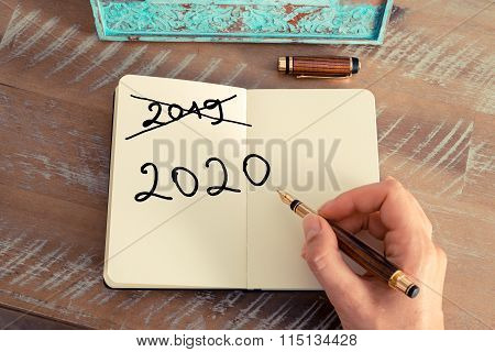 Handwritten Text Happy New Year 2020